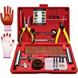 AUTOWN Flat Tire Repair Kits, 62 Pcs Universal Tire Plug Kit Heavy Duty Flat Tire Puncture Repair Kit for Cars, Trucks, Motor