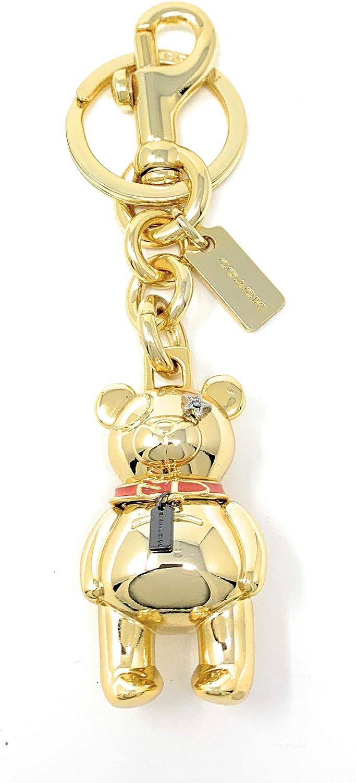 COACH 3 - D Bear Bag/Purse Charm Key Fob/Chain in Gold 87166, Medium