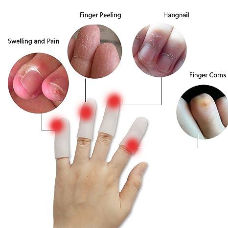 amazon com jrery silicone gel finger protectors 8 pieces finger rh amazon com Cracked Finger Tips in Winter Fingernails Splitting Down the Middle