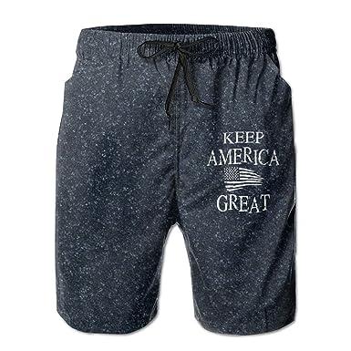 PPUttDJddGH-P Keep America Great American Flag Printed Mens Sports Beachwear Swimming Shorts Outdoor Beach Board Shorts