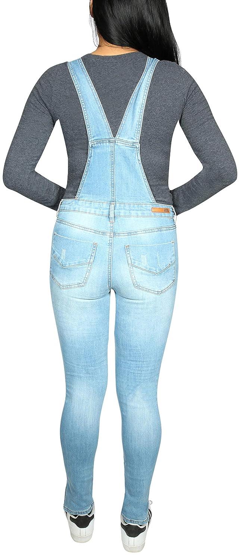 523b0f40590 Amazon.com  dollhouse Women s Skinny Denim Destructed Overalls  Clothing