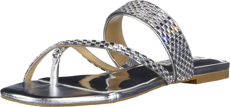 Badgley Mischka Womens Flat Sandal Slide