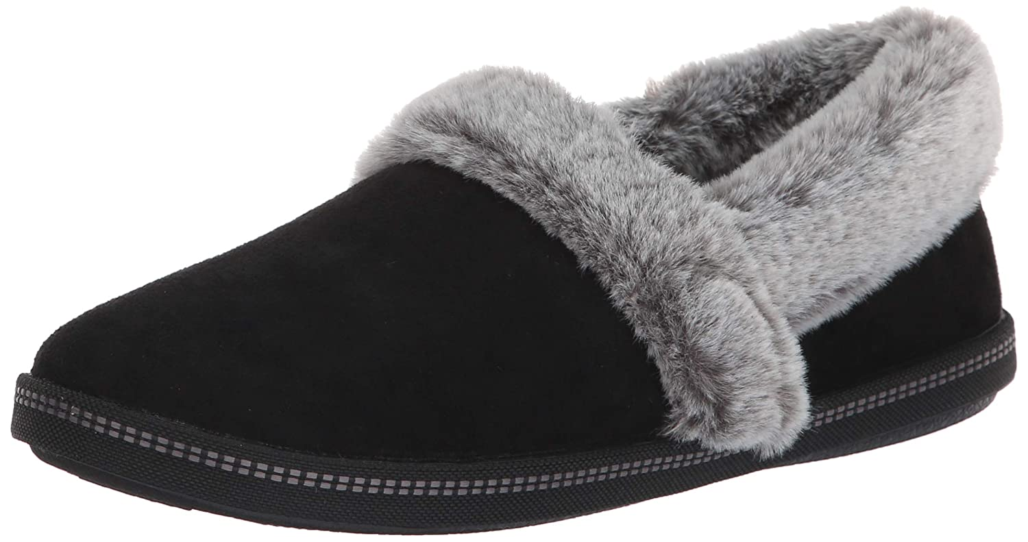 Skechers Women's Cozy Campfire Team Toasty Microfiber Slipper with Faux Fur Lining