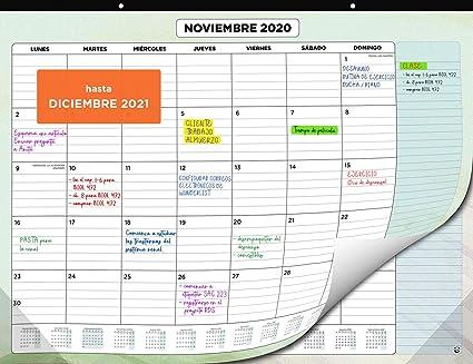 Calendario de Pared 2020 2021 de SmartPanda – Calendario Mensual de Sobremesa – Julio 2020 a Diciembre de 2021 – Vista de un Mes – 33 cm x 43 cm: Amazon.es: Oficina y papelería