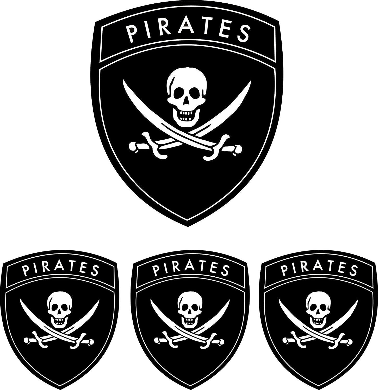 Michael Rene Pflüger Barmstedt Aufkleber Set Pirat Piraten Totenkopf Skull Auto Motorrad Sticker Auto