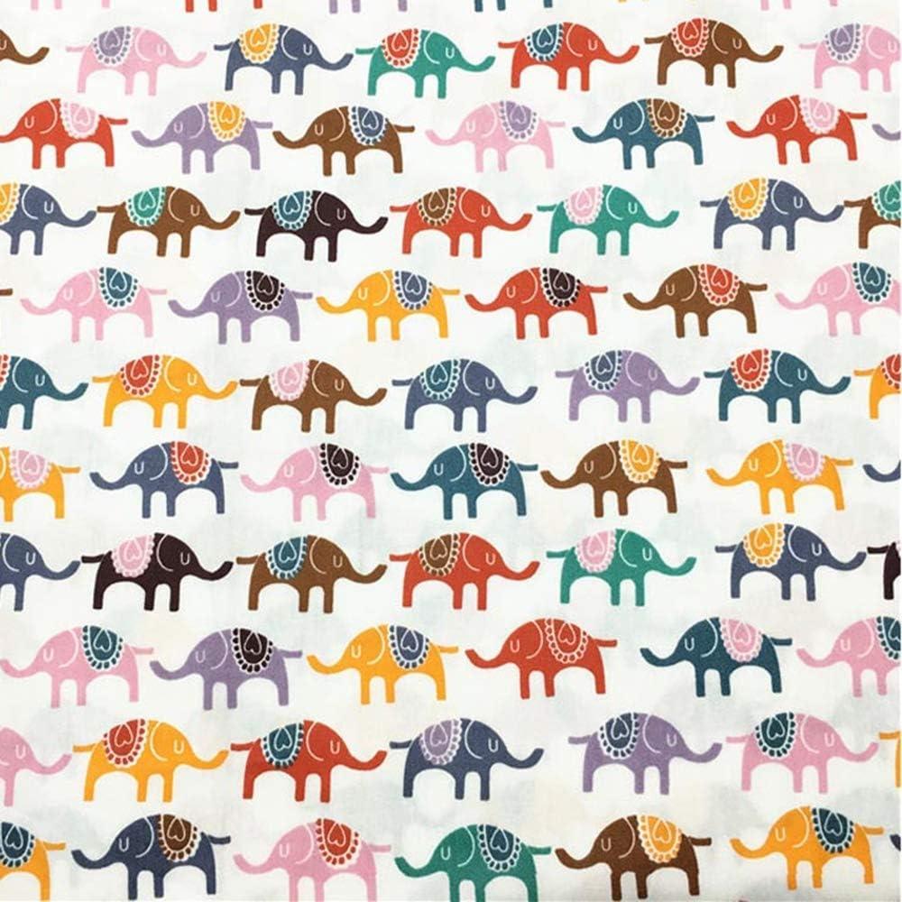 estampado de elefantes y ciervos tela de algod/ón para costura de retazos 8 piezas de tela de acolchado de retales de 46 x 56 cm verde
