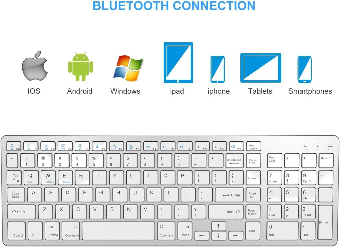 Jelly Comb Ultra-Thin Wireless Bluetooth Keyboard
