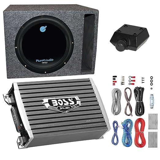 Amazon.com: Planet Audio 1800W Subwoofer + Boss 1500W Amplifier w ...