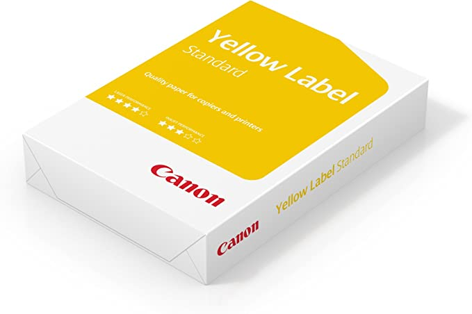 Canon Yellow Label Standard A4 White Printer Paper 80gsm - 1 Ream of 500 Sheets: Amazon.co.uk: Office Products