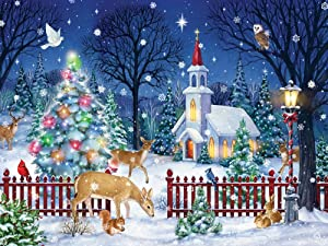 Peaceful Night Christmas Jigsaw Puzzle 550 Piece