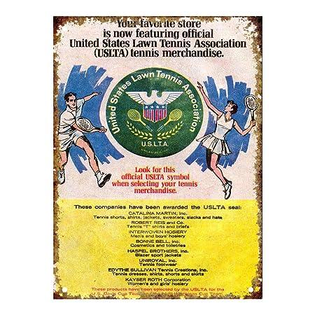 US Lawn Tennis Association Carteles de Chapa de estaño Señal ...