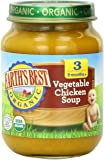 Earth's Best Organic Stage 3, Vegetable & Chicken Soup, 6 Ounce Jar (Pack of 12)