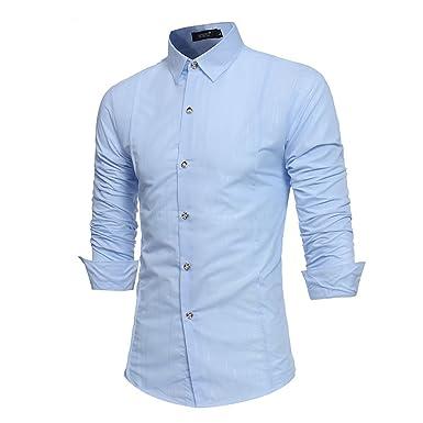 pas cher pour réduction 14197 63ce4 ZumZup Homme Mode Coton Chemise d'affaire Manche Longue Col ...