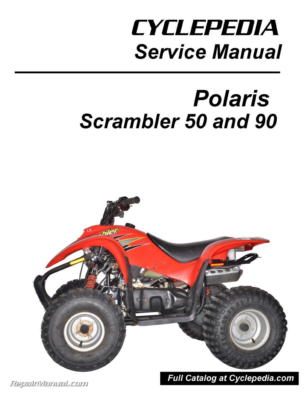 CPP-173-P Polaris 50cc 90cc Scrambler ATV Print Service Manual By  Cyclepedia: Manufacturer: Amazon.com: Books