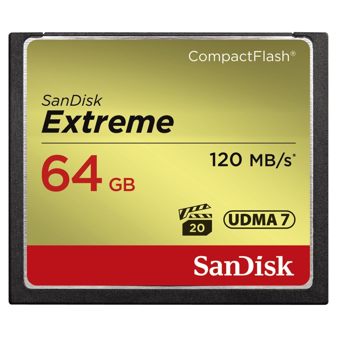 SanDisk Extreme 64GB CompactFlash Memory Card (SDCFXSB-064G-G46) by SanDisk