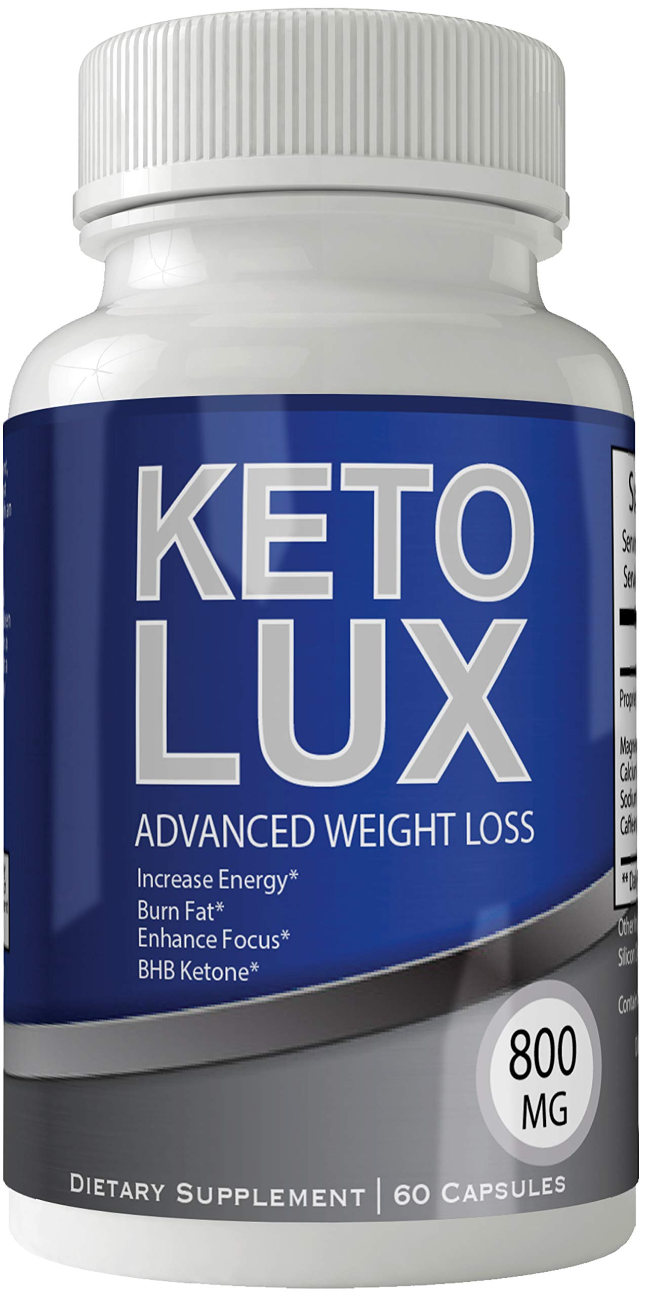 Keto Lux Pills Advance Weight Loss Supplement Appetite Suppressant Natural Ketogenic 800 mg Formula with BHB Salts Ketone Diet Capsules to Boost Metabolism, Energy and Focus