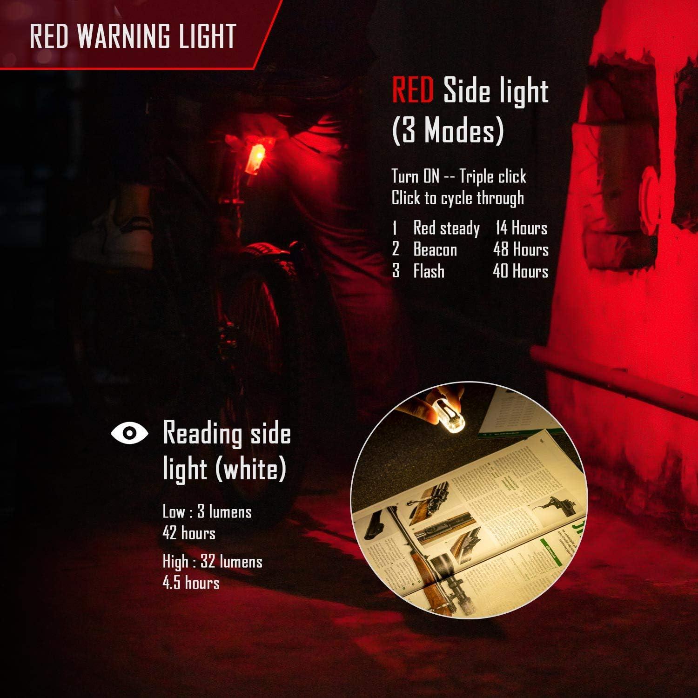 RovyVon Aurora A25 Linterna de luz roja