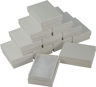 Boxdisplay 24 x Caja Rectangular de cartón Blanco con diseño de ...