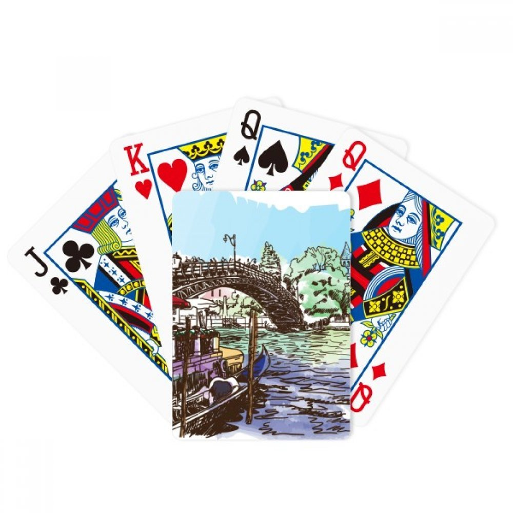 Italy Venice Landmark Watercolour Poker Playing Cards Tabletop Game Gift