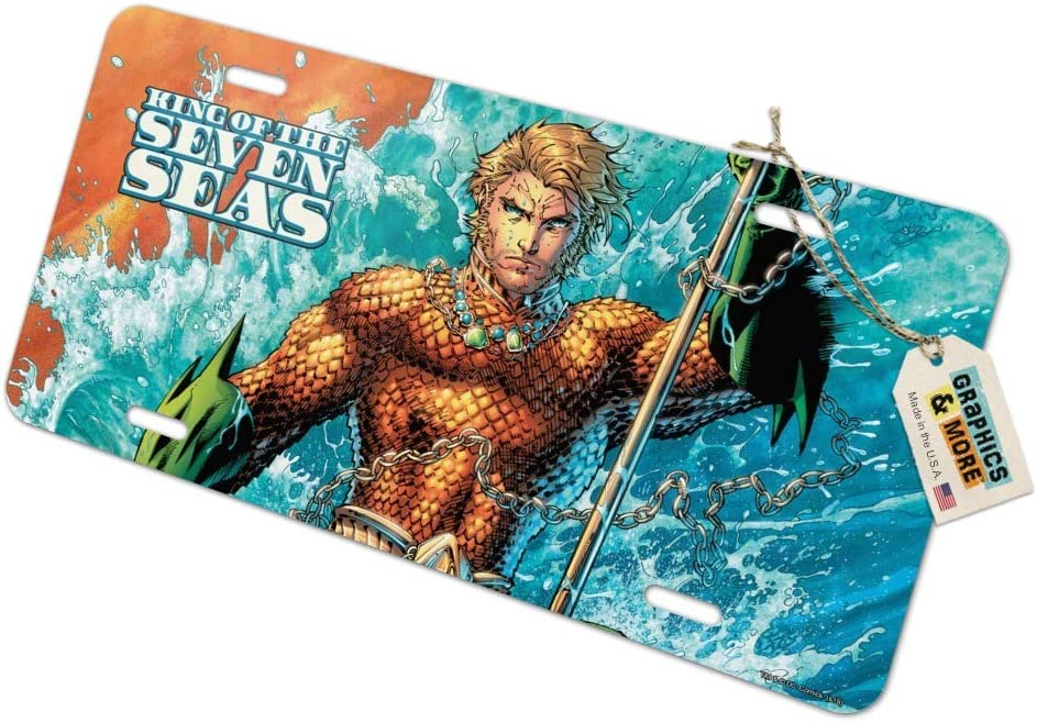 Graphics and More Aquaman King of The Sea Novelty Metal Vanity Tag License Plate
