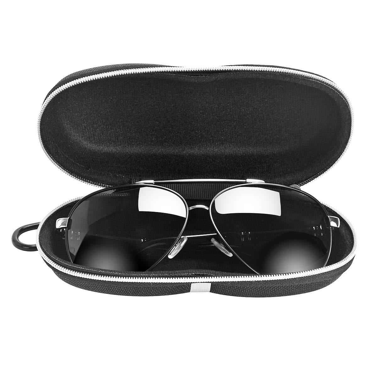 Toycc Custodia per occhiali da sole Occhiali miopia Borsa per occhiali,Panno di cotone,grande capacit/à nero
