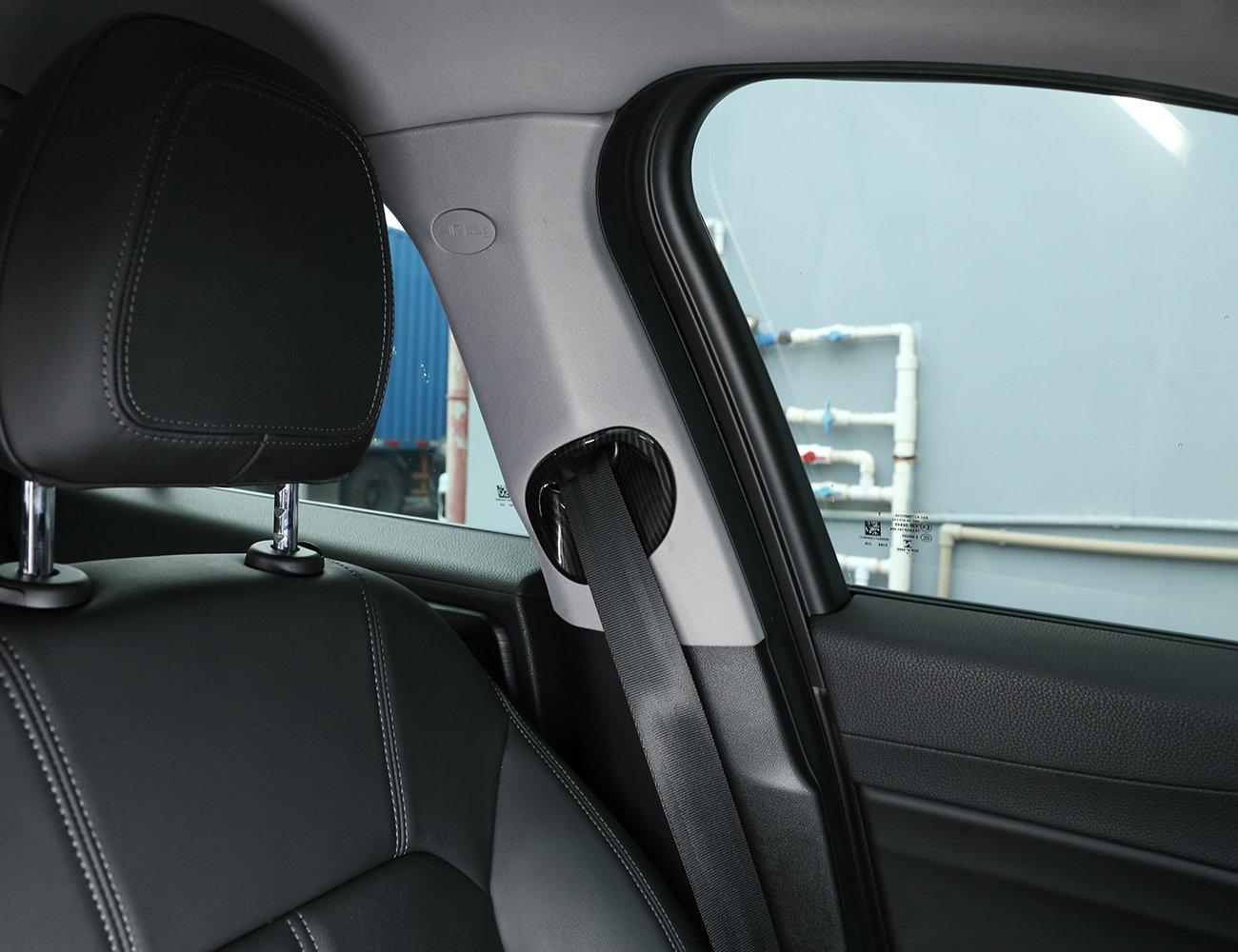 en Fibre de Carbone Style ABS Chrome Couverture De Ceinture De S/écurit/é Avant Garniture pour Giulia 2016 2017 2018 2019