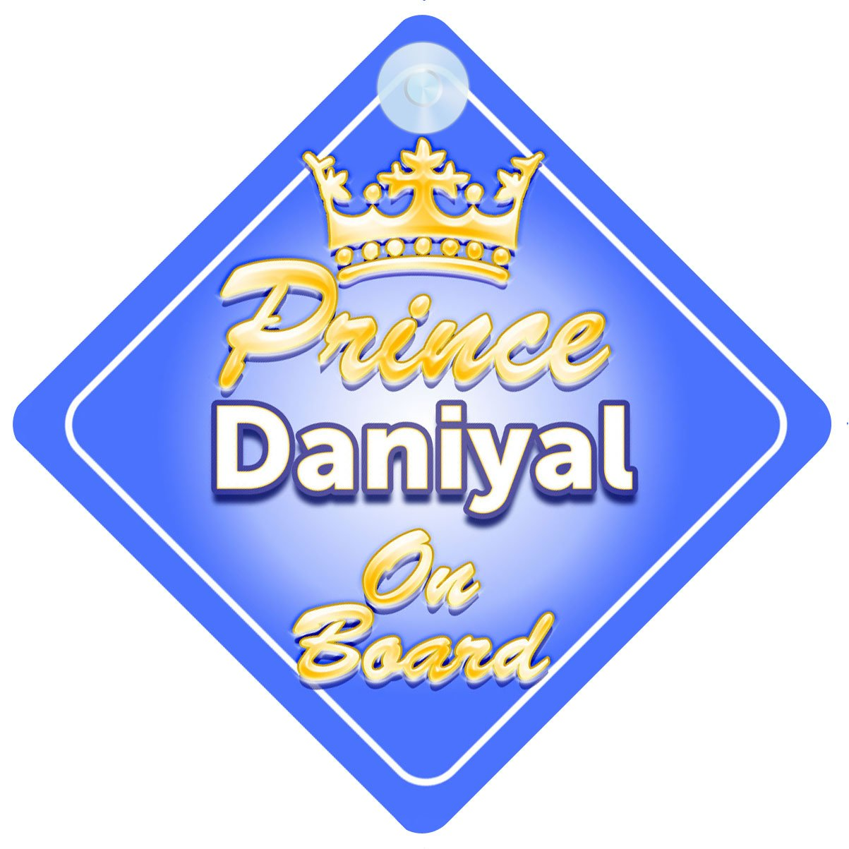 Crown Prince Ruben On Board Personalised Baby Boy Car Sign