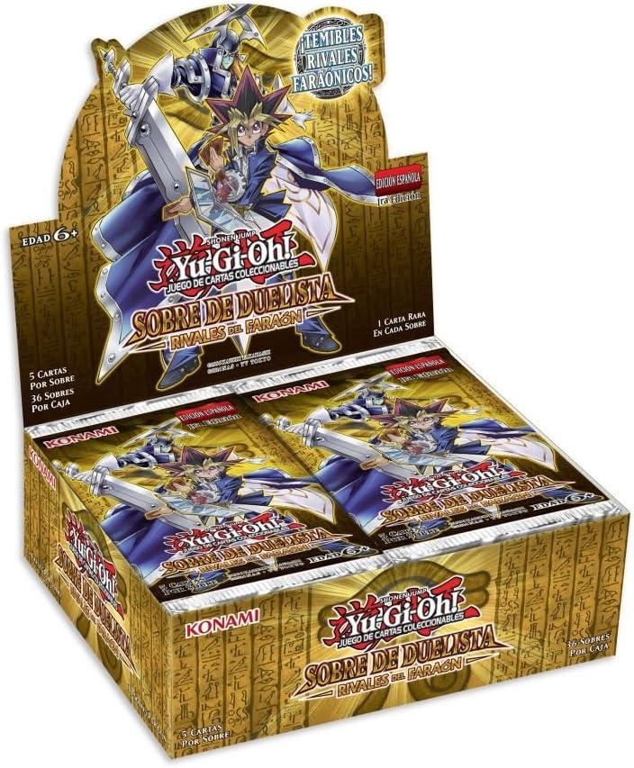 Devir Yugioh - Expositor de Sobres, Rivales del Faraón, Juego de Mesa (Konami YG16RFBT): Amazon.es: Juguetes y juegos
