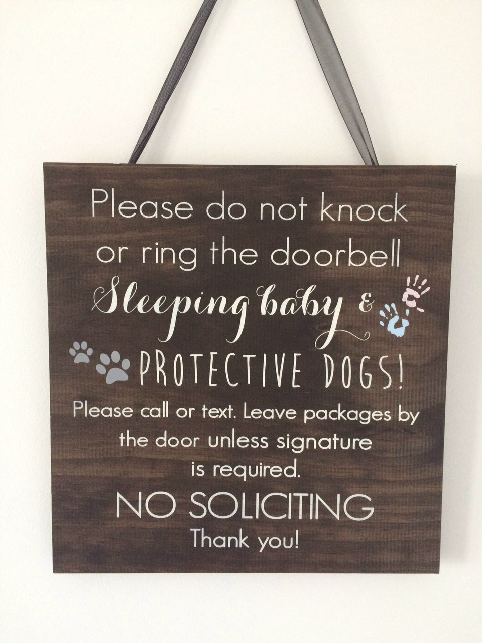 Sleeping Baby Sign Baby Door Sign Rustic Baby Sign Wood Baby Sign Baby Shower Sign Personalized Baby Sign VioletBoyle