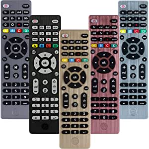 GE 4 Device Universal Remote, Works with Smart TVs, Lg, Sony, Blu Ray, DVD, DVR, Roku, Apple TV, and Other Streaming Players, Simple Setup, Auto Scan, Pre-Programmed for Samsung TVs, Bronze, 33710