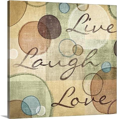 "LIVE LAUGHT LOVE Home Wall Art Print Decor 24/"" x 24/"" LOVE MOTIVATION POSTER"