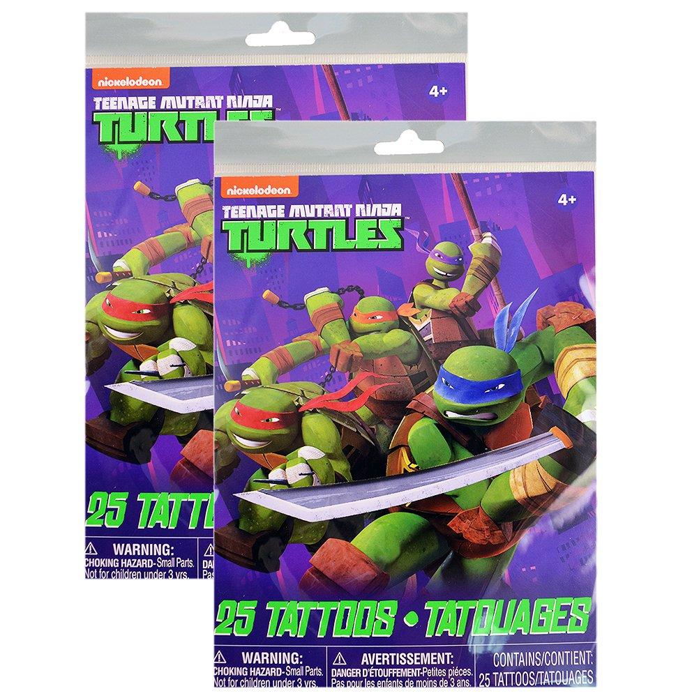 TMNT Tattoos [2 Package of 25]: Amazon.es: Juguetes y juegos