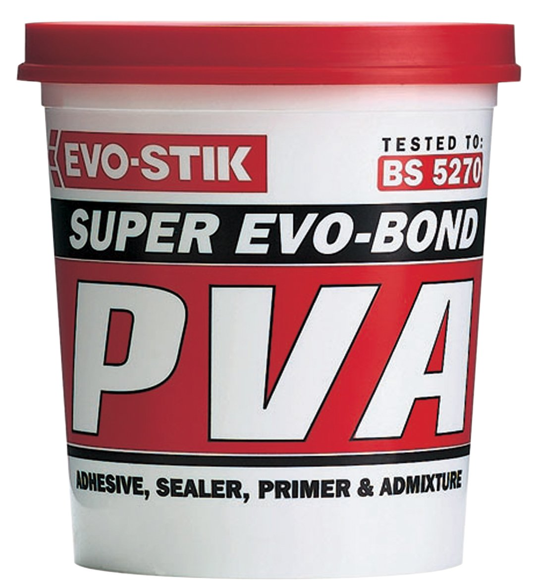 2 x 500ml Evo-Stik Super Evo-Bond PVA building adhesive sealer primer dustproofer admixture 122000