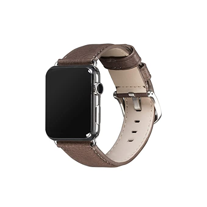 info for df127 67345 Sena Heritage Leather Watch Band for Apple Watch 42mm - Grey
