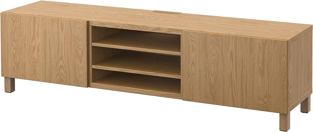 IKEA BESTA - Mueble TV con cajones roble efecto Lappviken: Amazon.es: Hogar