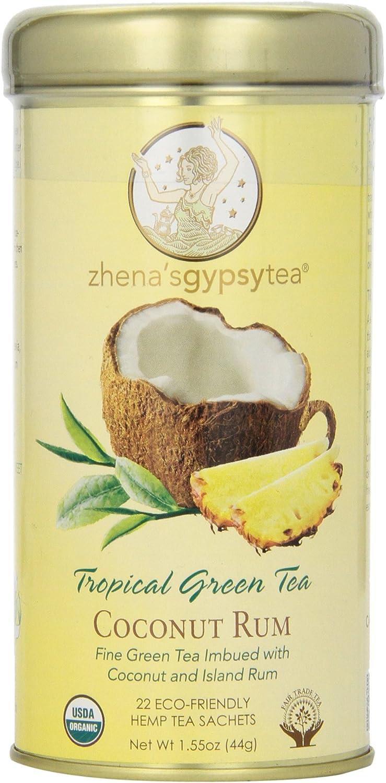 Gitano de Zhena Tea Ts tropicales de coco ron 22 bolsitas de t- de alta costura 222258