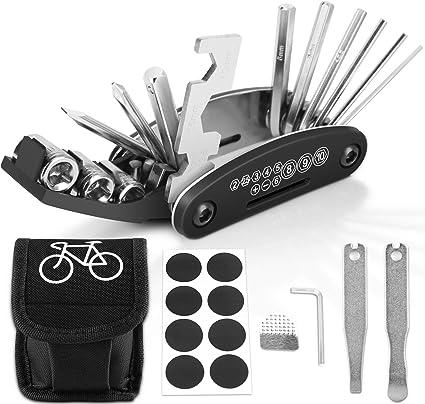 16 in 1 Faltbar Fahrrad Funktionswerkzeug Reparaturen Fahrradwerkzeug Werkzeug
