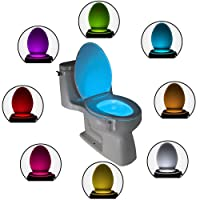 The Original Toilet Bowl Night Light Gadget Funny LED Motion Sensor Presents for Seat Novelty Bathroom Accessory Gift Cool Fun Colours Christmas Stocking Fillers Gifts for Men Women Dad Mum Grandad
