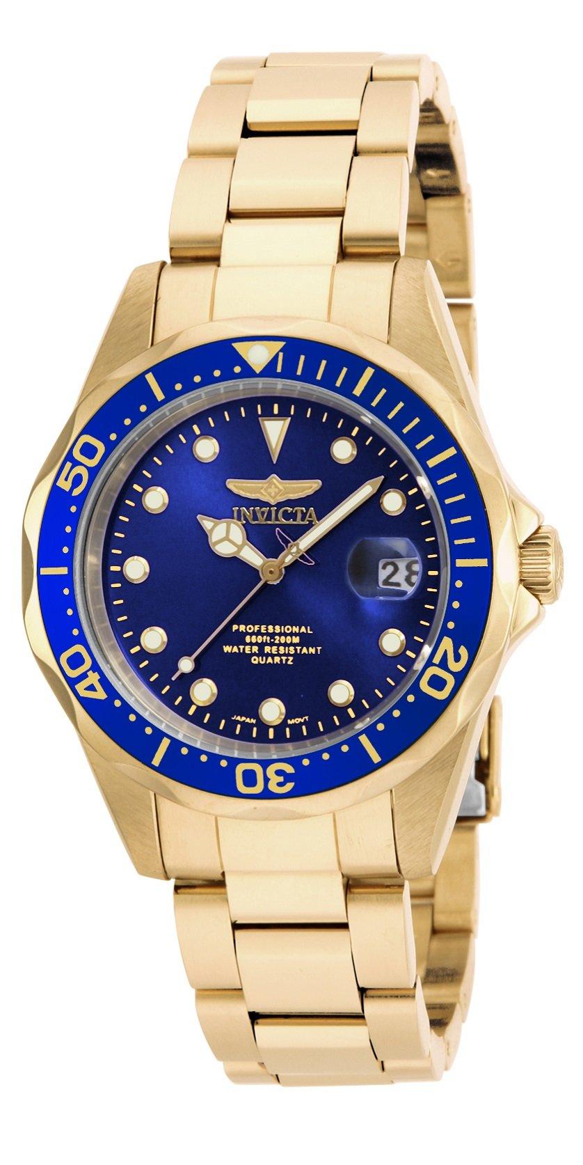 Invicta Women's 17052 Pro Diver Analog Display Japanese Quartz Gold Watch by Invicta