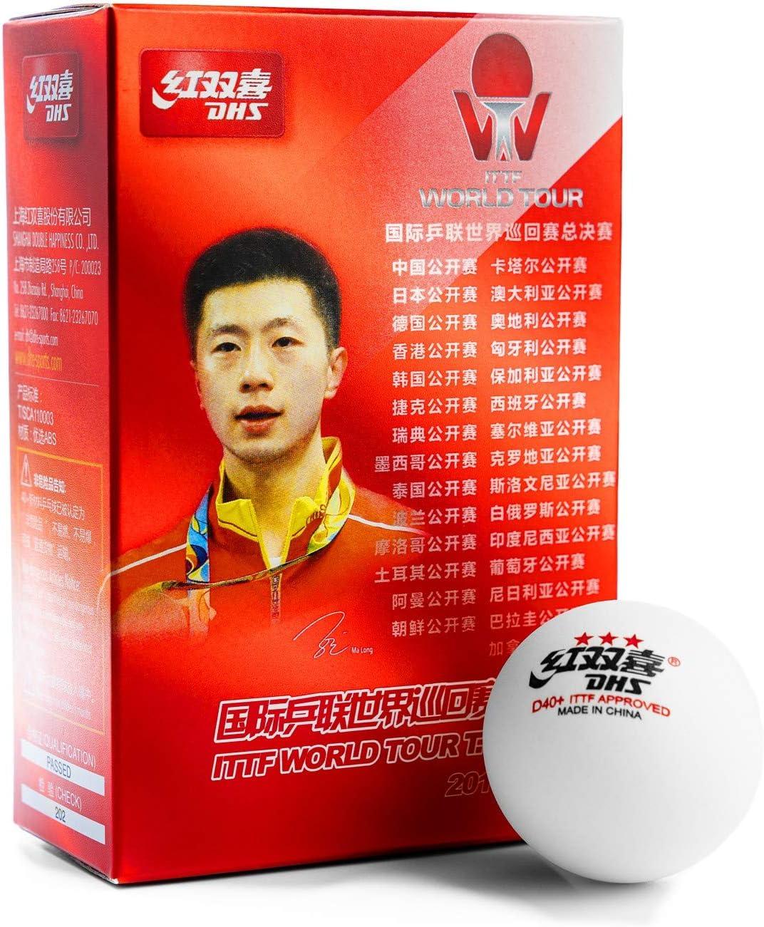 DHS D40 3 ITTF World Tour Table Tennis 6 Balls