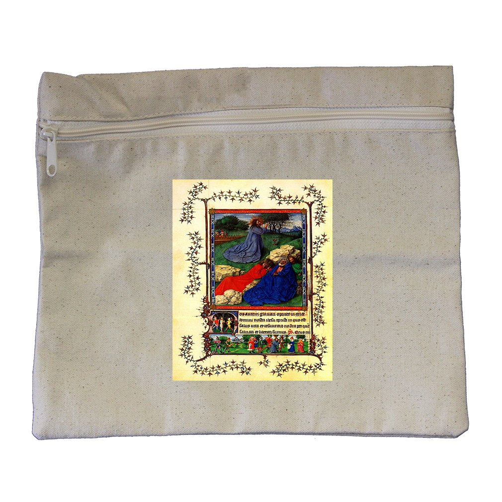 Christ Child And Angel By Goes (Bouts) Canvas Zippered Pouch Makeup Bag