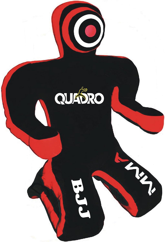 Quadro MMA Jiu Jitsu Martial Arts GrapplingダミーKick Boxingスポーツパンチバッグ – Unfilled Canvas 黒 70 inches (6 ft)