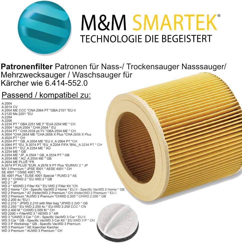A 2101 A 2054 Me A 2024 pt 2x Patronen-Filter für Kärcher A 2003 A 2004