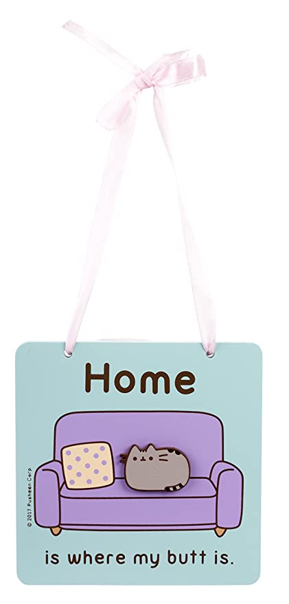 Blueprint collections ltd pusheen home is where my butt is wooden blueprint collections ltd pusheen home is where my butt is wooden plaque malvernweather Choice Image
