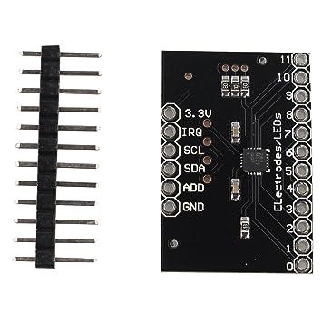 MPR121 ruptura v12 detectores de proximidad capacitiva Touch Sensor módulo de controlador I2 C teclado: Amazon.es: Informática