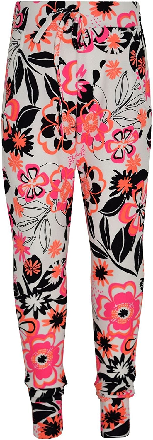 A2Z 4 Kids/® Girls Tracksuit Kids Neon Floral Neon Tropical Print Lounge Suit Bottom Joggers Leggings New Age 7 8 9 10 11 12 13 Years