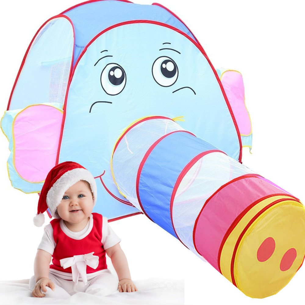 Kids Play Tent Crawl Tunnel, ihoven NEW UPGRADED Pop Up Baby Play Tent Children Toy Jungle Dome Playhouse Tents Set with Zippered Storage Bag for Boys Girls Babies and Toddlers Review