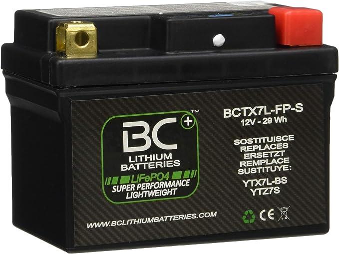 BC Lithium Batteries BCTX7L-FP-S Batería Litio para Moto LiFePO4, Negro, 1
