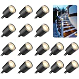 Recessed LED Deck Light Kits with Protecting Shell φ32mm,SMY In Ground Outdoor LED Landscape Lighting IP67 Waterproof…