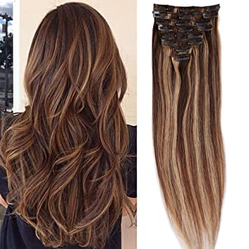 S noilite 16 18 20 22 8pcs clip in human hair extensions 100 s noilite 16quot 18quot 20quot 22quot 8pcs clip in human hair pmusecretfo Image collections